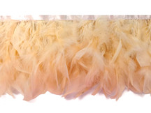 1 Yard – Champagne Chandelle Turkey Fluffy Feather Trim