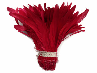 Fiery red long strong craft feathers