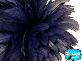Navy Strung Natural Bleach And Dyed Coque Tails Wholesale Feathers (Bulk)