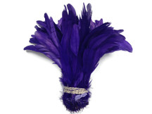 Dark purple long and sturdy craft feathers