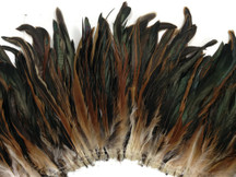 Iridescent black and brown sturdy craft feathers