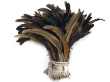 Brown and black iridescent fluffy craft feathers