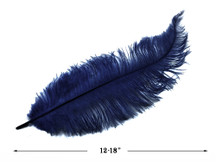 20 Pieces - Navy Blue Mini Spads Ostrich Chick Body Feathers