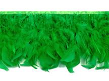 1 Yard – Kelly Green Chandelle Turkey Fluffy Feather Trim