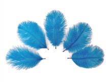 Wholesale Pack - Turquoise Blue Ostrich Small Confetti Feathers (Bulk)