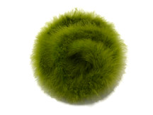 2 Yards - Moss Green Turkey Medium Weight Marabou Feather Boa 25 Gram