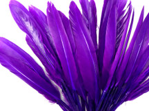 1/4 Lb. - Purple Dyed Duck Cochettes Loose Wing Quill Wholesale Feather (Bulk)
