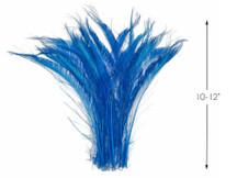 50 Pieces - Turquoise Blue Bleached & Dyed Peacock Swords Cut Wholesale Feathers (Bulk)