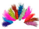 Colorful Mix Grizzly Rooster Chickabou Fluff Wholesale Feathers 0.20 Oz. (Bulk)