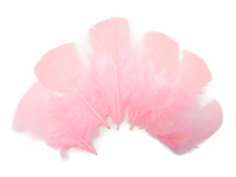 1/4 Lb - Light Pink Turkey T-Base Plumage Wholesale Feathers (Bulk)