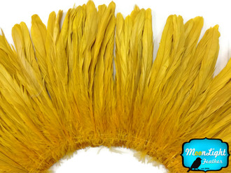 Gold Strung Natural Bleach And Dyed Coque Tails Wholesale Feathers (Bulk)