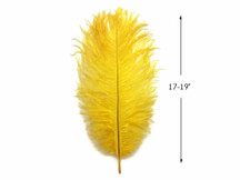 "10 Pieces - 17-19"" Yellow Large Bleached & Dyed Ostrich Drabs Body Feathers"