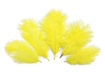 Wholesale Pack - Yellow Ostrich Small Confetti Feathers (Bulk)