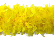 2 Yards - Yellow Heavy Weight Chandelle Feather Boa | 80 Gram