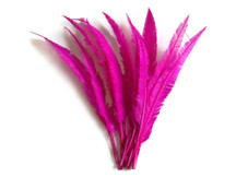 Hot Pink Ostrich Nandu Trimmed Long Wholesale Feathers (Bulk)