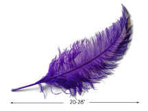 "10 Pieces - 20-28"" Purple Ostrich Spads Large Wing Feathers"