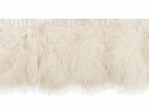 1 Yard - Ivory Marabou Turkey Fluff Feather Fringe Trim