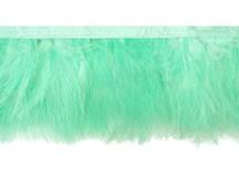 1 Yard - Aqua Green Marabou Turkey Fluff Feather Fringe Trim