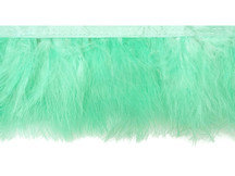 1 Yard - Aqua Green Marabou Turkey Fluff Feather Fringe Trim