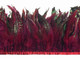 Burgundy Chinchilla Rooster Feathers Trim