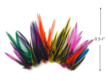 1 Pack - Colorful Mini Laced Hen Cape BLW Whiting Farms Feathers 0.02 oz. (bulk)