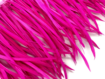 1 Yard - Hot Pink Goose Biots Stripped Wing Wholesale Feather Trim