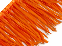 1 Yard - Orange Goose Biots Stripped Wing Wholesale Feather Trim