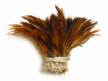 Natural Red Strung Rooster Neck Hackle Wholesale Feathers