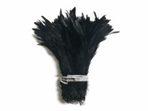 Black Strung Natural Bleach And Dyed Coque Tails Wholesale Feathers (Bulk)