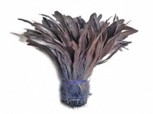 GREY Strung Natural Bleach Coque Tails Wholesale Feathers (bulk)