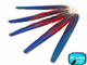 5 Tails Feathers - Iridescent Blue And Red Macaw Tail Feather Set - Rare-