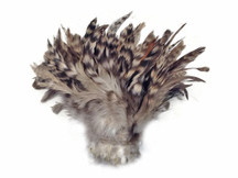 Grey Chinchilla Strung Rooster Schlappen Wholesale Feathers (Bulk)