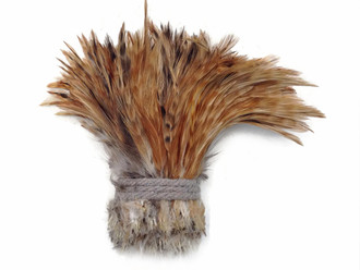 Red Chinchilla Strung Rooster Neck Hackle Wholesale Feathers