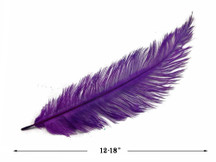 20 Pieces - Purple Mini Spads Ostrich Chick Body Feathers