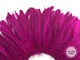 1/2 Yard - Fuchsia Strung Natural Bleach And Dyed Coque Tails Wholesale Feathers (Bulk)