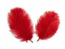 1 Pack - Red Ostrich Small Confetti Feathers 0.3 Oz