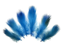 Sky blue short wispy craft feathers