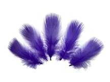 Dark purple short wispy craft feathers