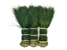 "1/2 Yard - 12-14"" Natural Iridescent Green Peacock Flue / Herl Strung Wholesale Feathers (Bulk)"