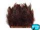 1 Yard - Brown Chinchilla Rooster Feathers Trim