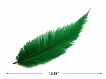 20 Pieces - Kelly Green Mini Spads Ostrich Chick Body Feathers