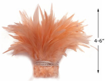 1 Yard - Champagne Strung Chinese Rooster Saddle Wholesale Feathers (Bulk)