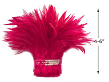 """1 Yard – 4-6"""" Dyed Claret Strung Chinese Rooster Saddle Wholesale Feathers (Bulk)"""