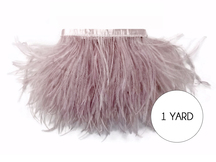 1 Yard - Taupe Ostrich Fringe Trim Wholesale Feather (Bulk)