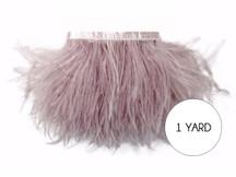 1 Yard - Taupe Ostrich Fringe Trim Wholesale Feather (Bulk)
