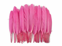 1 Pack - Candy Pink Dyed Duck Cochettes Loose Wing Quill Feather 0.30 Oz.