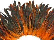 Light orange and green shiny feathers