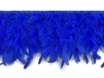 1 Yard - Royal Blue Chandelle Turkey Fluffy Feather Trim