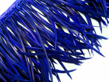 1 Yard - Royal Blue Goose Biots Stripped Wing Wholesale Feather Trim