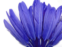 1/4 Lb. - Lilac Sky Blue Dyed Duck Cochettes Loose Wing Quill Wholesale Feather (Bulk)